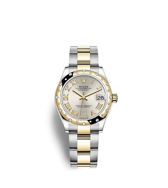 ロレックス デイトジャスト 31:オイスター、31 mm、オイスタースチール&イエローゴールド、ダイヤモンド