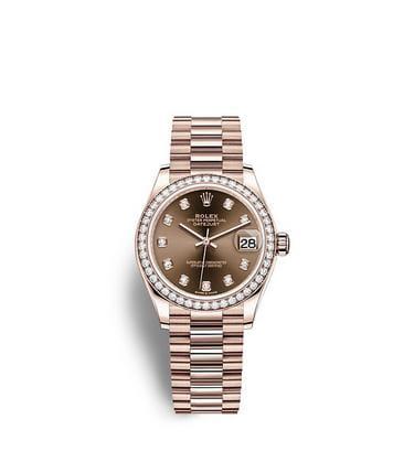 ロレックス デイトジャスト 31:オイスター、31 mm、エバーローズゴールド、ダイヤモンド
